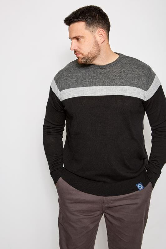 BadRhino Black Block Stripe Jumper