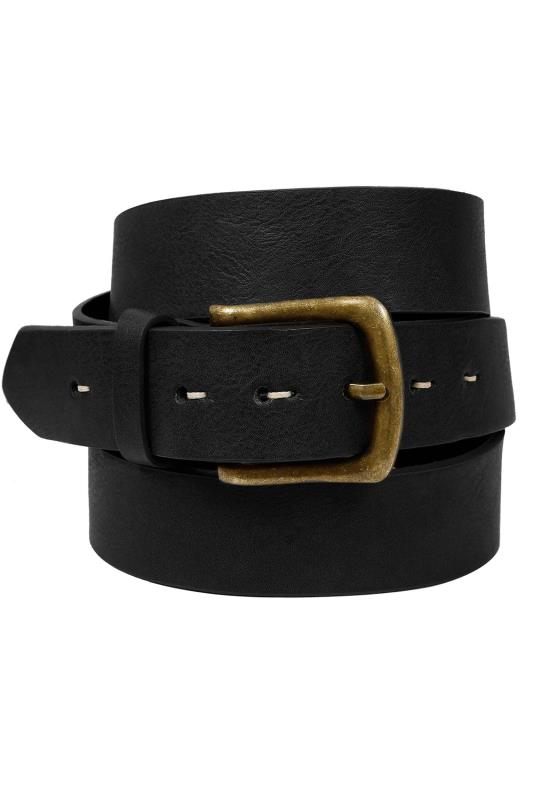 Belts & Braces BadRhino Black Bonded Leather Belt 110443