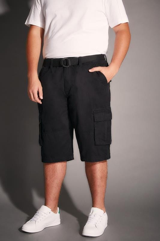BadRhino Black Cargo Shorts