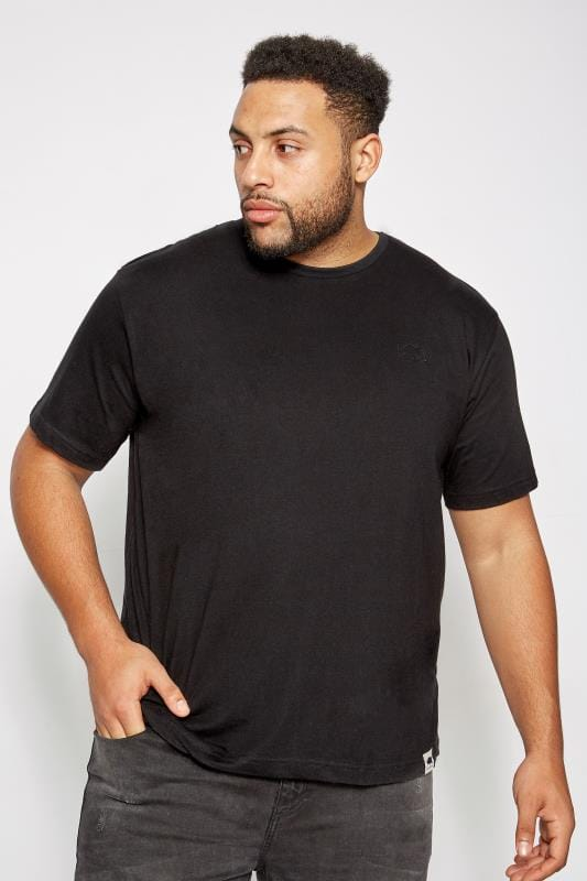 T-Shirts BadRhino Black Crew Neck Basic T-Shirt 110272