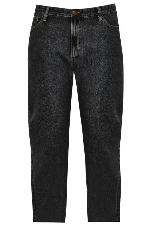BadRhino Black Denim Straight Leg Jeans With Unfinished Raw Hem