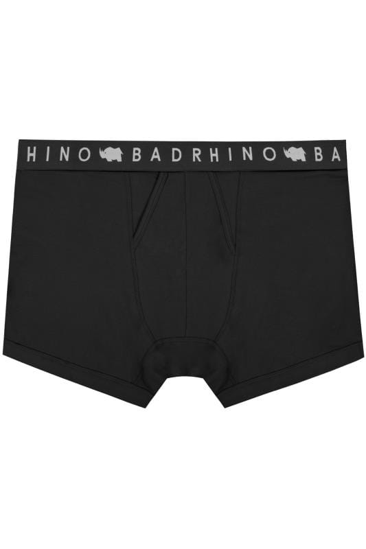 Boxers & Briefs BadRhino Black Elasticated A Front Boxers 200401