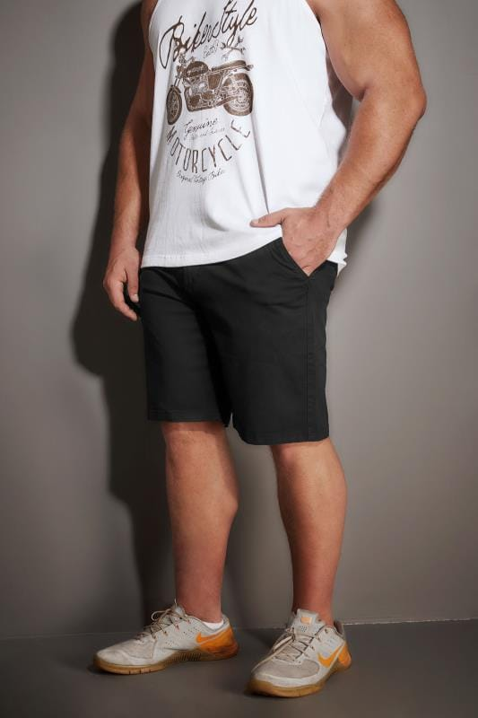Chino Shorts BadRhino Black Five Pocket Chino Shorts With Belt 200502