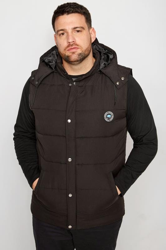 BadRhino Black Padded Gilet With Hood