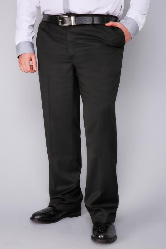 BadRhino Black Single Pleat Formal Trouser