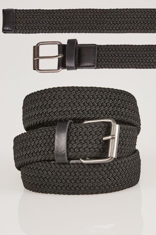 Belts & Braces BadRhino Black Stretch Woven Belt 200934