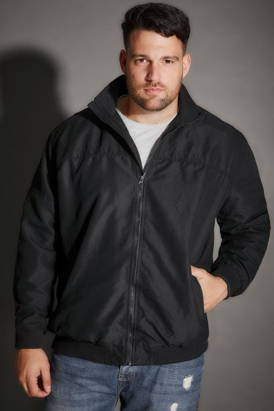 Jackets BadRhino Black Suedette Harrington Bomber Jacket 100346