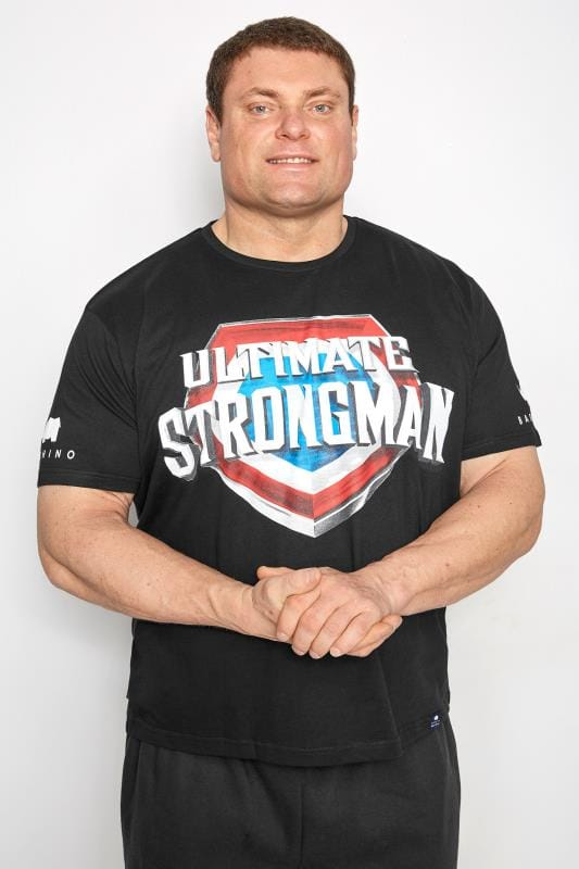 T-Shirts BadRhino Black 'Ultimate Strongman' T-Shirt 200800