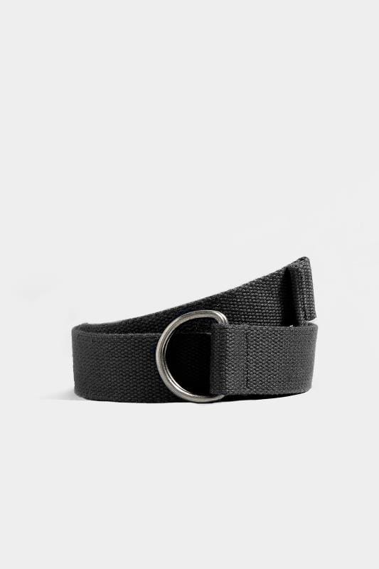 Belts & Braces BadRhino Black Woven Web Belt 200303