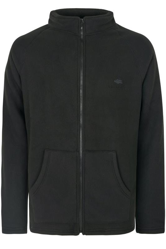 Fleece BadRhino Black Zip-Through Fleece With Sherpa Lining 200682