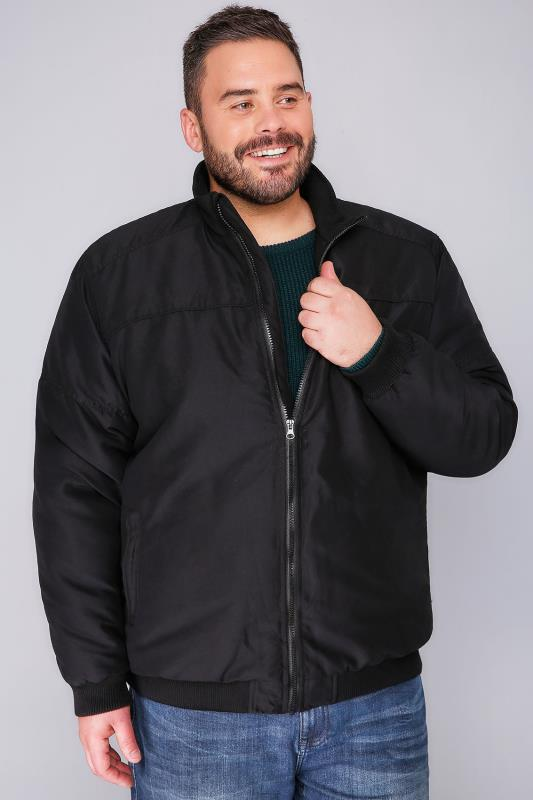 BadRhino Black Zip Up Padded Bomber Jacket