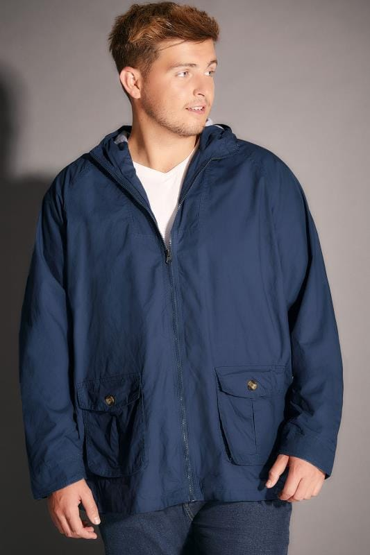 BadRhino Blue Cotton Hooded Jacket