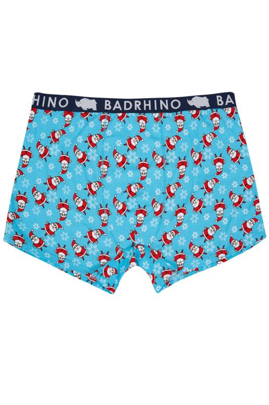 BadRhino Blue Father Christmas Hipster Trunks