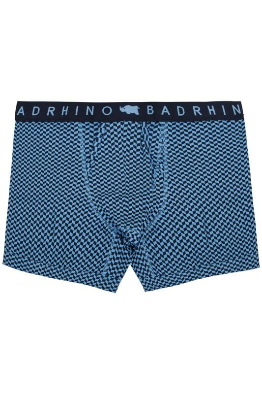 Boxers & Briefs BadRhino Blue Geometric Print A Front Boxers 200472