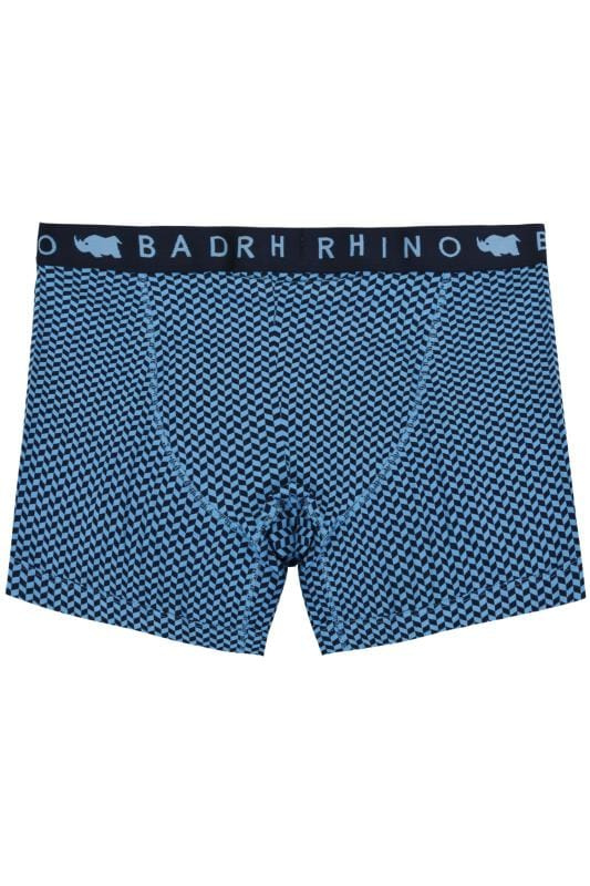 BadRhino Blue Geometric Print A Front Boxers