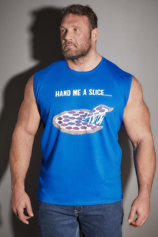 Vests BadRhino Blue 'Hand Me A Slice' Pizza Vest Top 200640