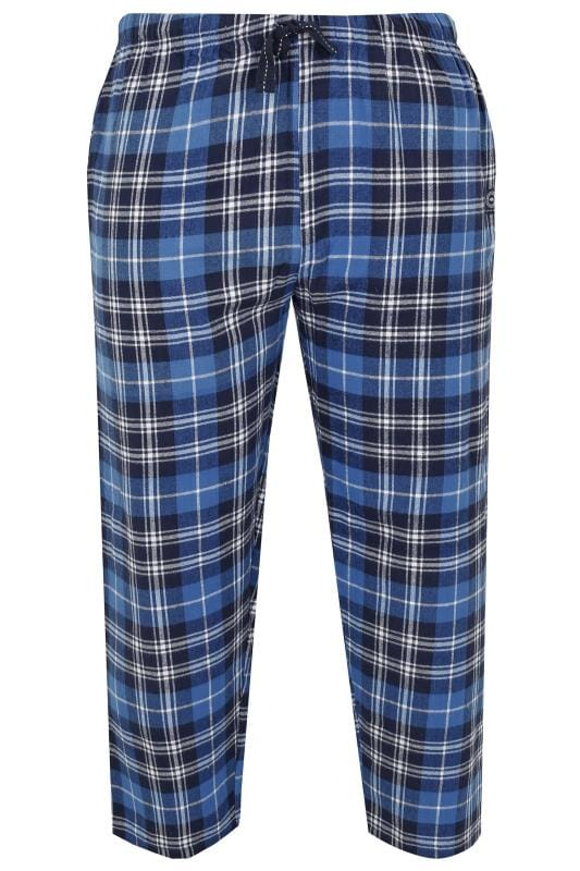 Nightwear BadRhino Blue & Navy Check Pyjama Bottoms 200466