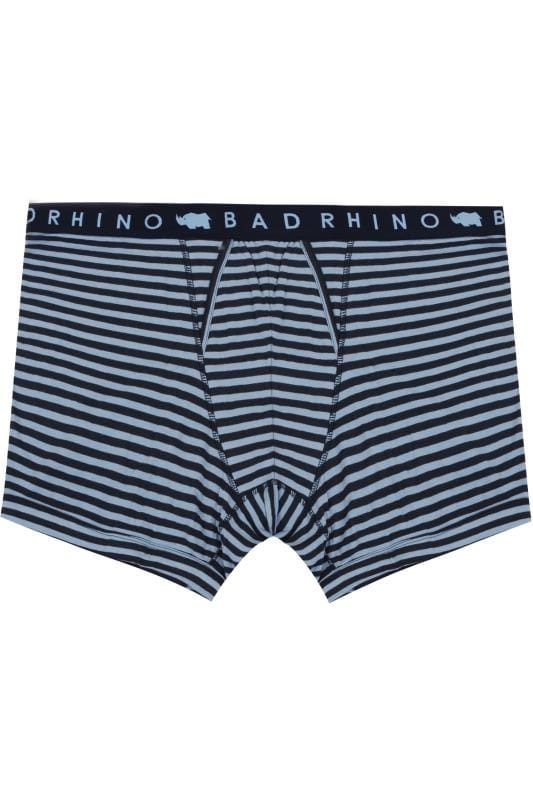 Boxers & Briefs BadRhino Blue & Navy Stripe A Front Boxers 200461
