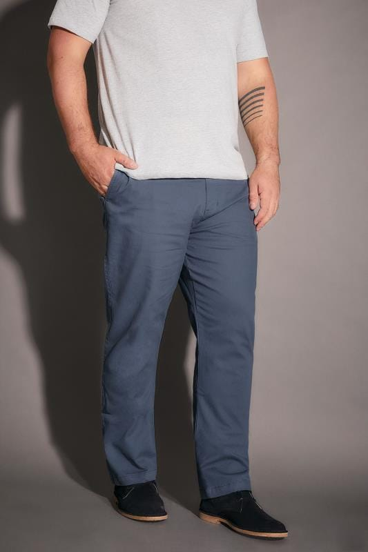 Chinos & Cords BadRhino Blue Stretch Chinos 200268