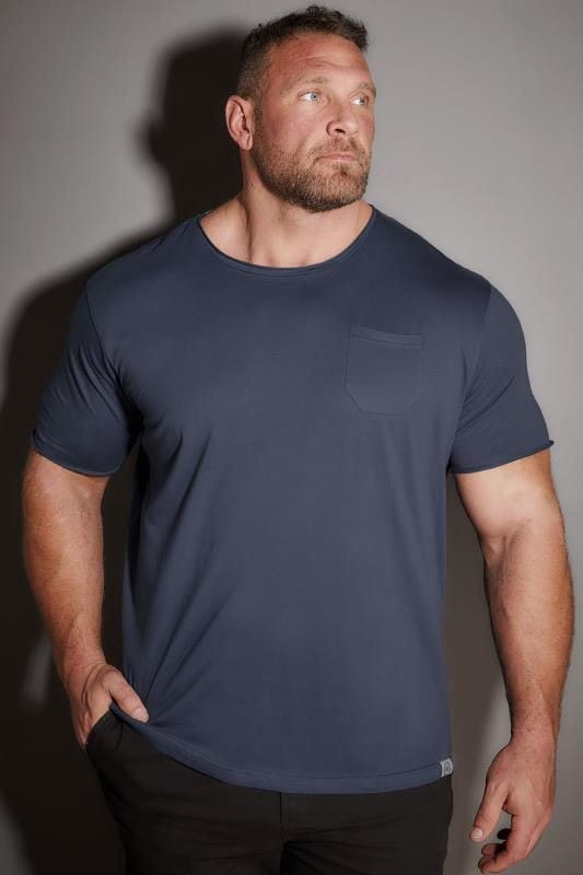 T-Shirts BadRhino Blue T-Shirt With Chest Pocket 110284