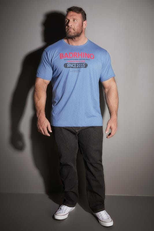 BadRhino Blue 'Unrestricted' Slogan T-Shirt