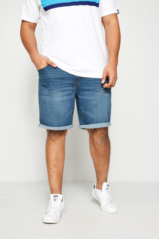 BadRhino Blue Washed Denim Shorts