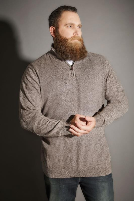 Brown Zip Front Jumper