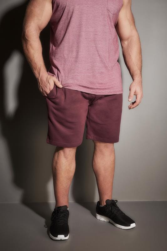 Jogger Shorts BadRhino Burgundy Basic Sweat Shorts 200217