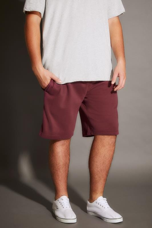 BadRhino Burgundy Basic Sweat Shorts With Pockets