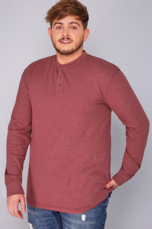 BadRhino Burgundy Heavyweight Jersey Top - TALL