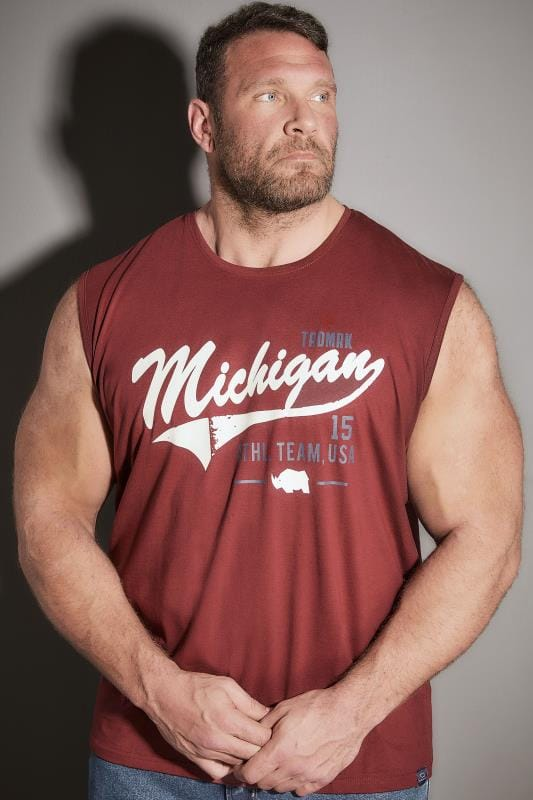 Vests BadRhino Burgundy 'Michigan' Muscle Vest 200638