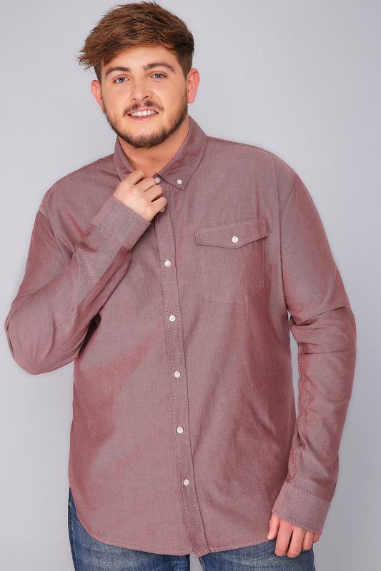 Smart Shirts BadRhino Burgundy Vintage Oxford Cotton Shirt 110122