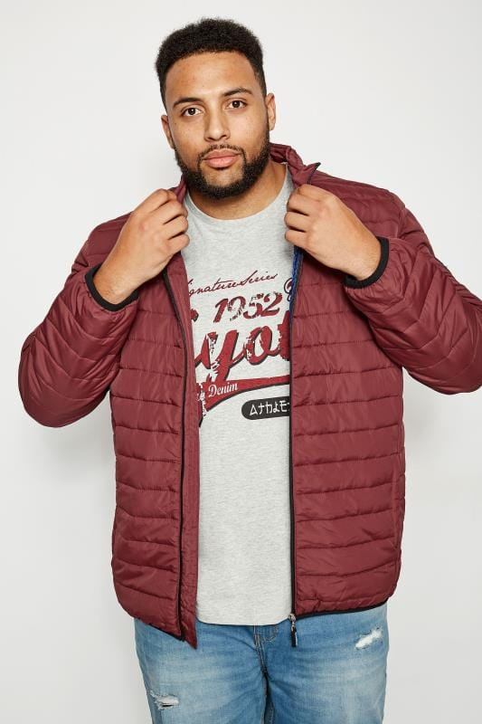 BadRhino Burgundy Padded Zip Through Jacket