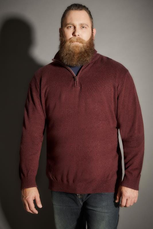 Burgundy Zip Front Jumper