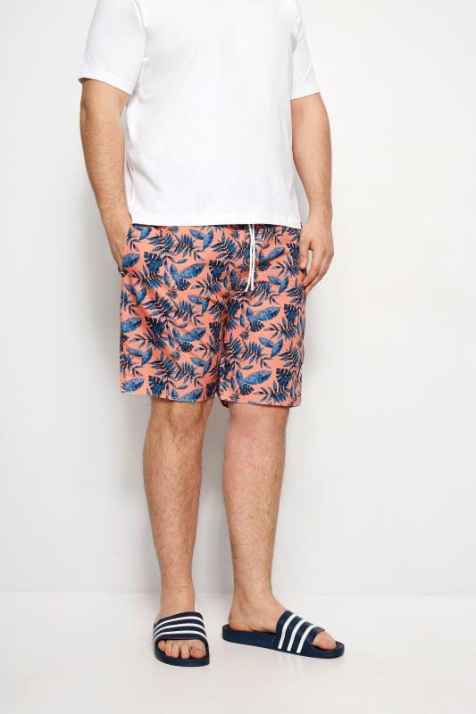 Swim Shorts BadRhino Coral Leaf Swim Shorts 200927