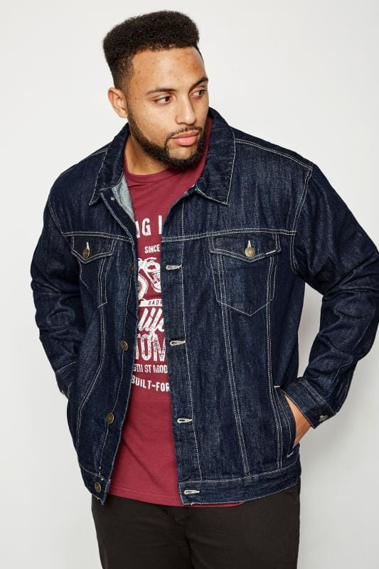 92f48aea56653 BadRhino Dark Blue Denim Jacket
