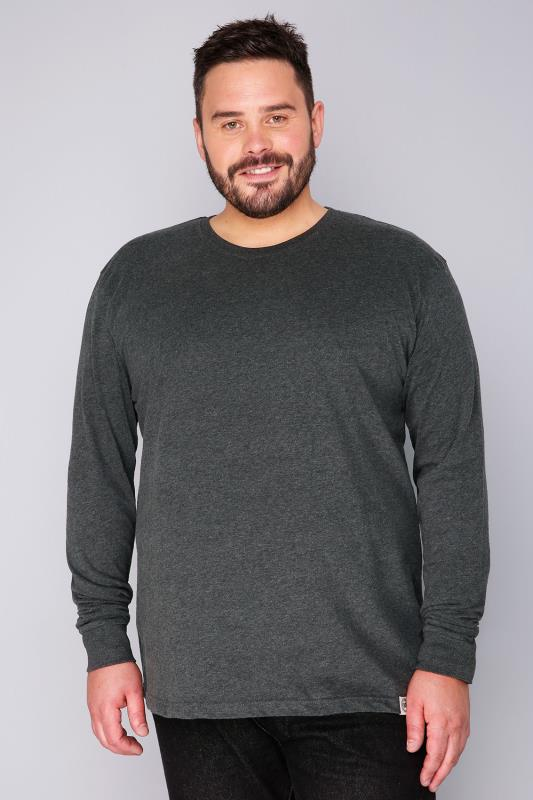 BadRhino Dark Grey Long Sleeved T-Shirt