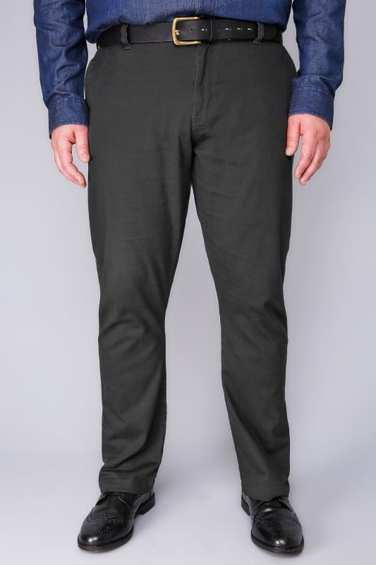 Chinos & Cords BadRhino Dark Grey Stretch Chinos 110307