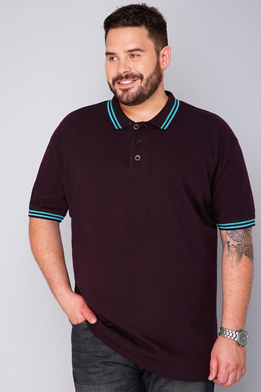 BadRhino Dark Purple Short Sleeved Polo Shirt