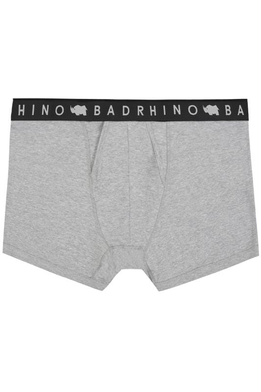 Boxers & Briefs BadRhino Grey Elasticated A Front Boxers 200403