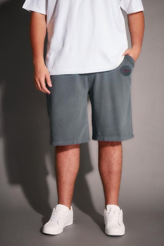 Jersey Shorts BadRhino Grey Jersey Shorts With Pockets & Logo Detail 200163