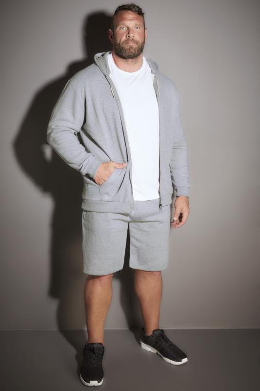 BadRhino Grey Marl Basic Sweat Shorts