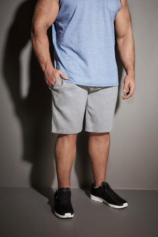 BadRhino Grey Marl Basic Sweat Shorts With Pockets