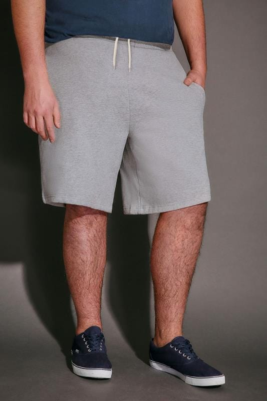 Jersey Shorts BadRhino Grey Marl Basic Sweat Shorts With Pockets 110477
