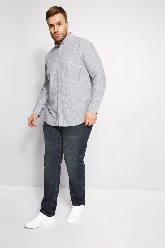 BadRhino Grey Striped Shirt