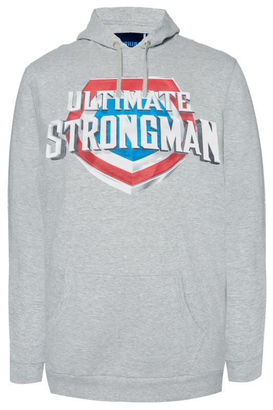 Hoodies BadRhino Grey 'Ultimate Strongman' Hoodie 201167