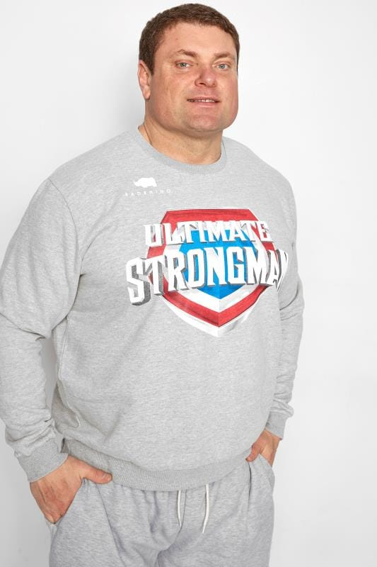 Sweatshirts BadRhino Grey 'Ultimate Strongman' Sweatshirt 200816