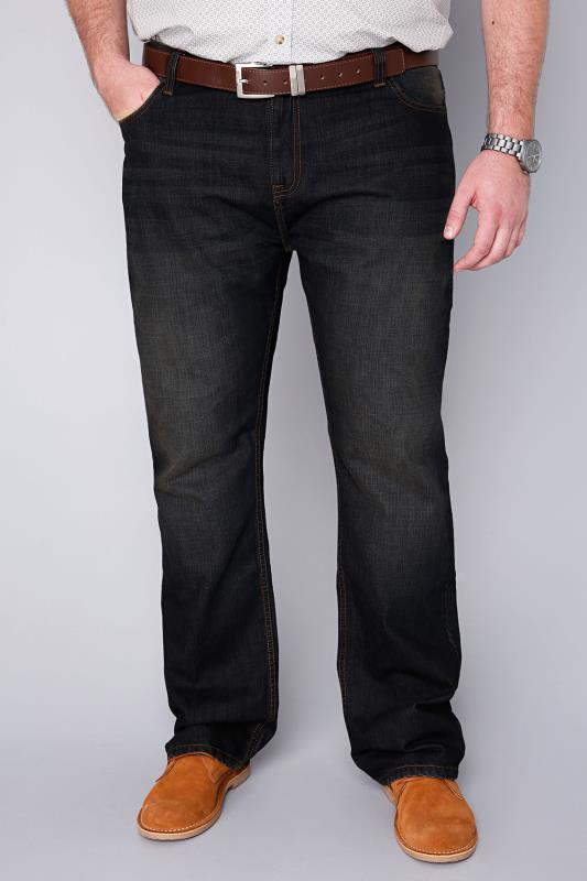 BadRhino Indigo Dark Wash Denim Straight Leg Jeans - TALL