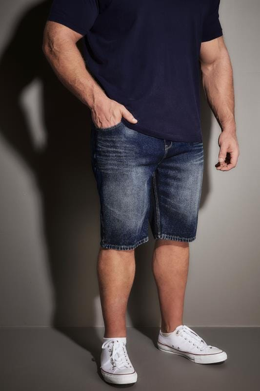 Denim Shorts BadRhino Indigo Denim Faded Leg 5 Pocket Shorts 200250