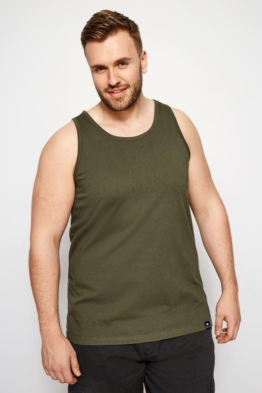 Vests BadRhino Khaki Cotton Vest Top 200992